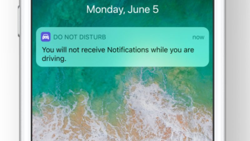 Do Not Disturb While Driving feature on Apple iOS 11 beta