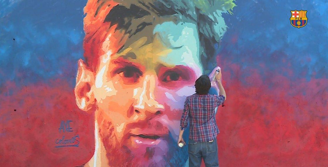 RT @FCBarcelona: ???????? The Apotheosis of #Messi ????  Graffiti art pops up in Barcelona: https://t.co/BG1r3AcLiC https://t.co/uHtheyercQ