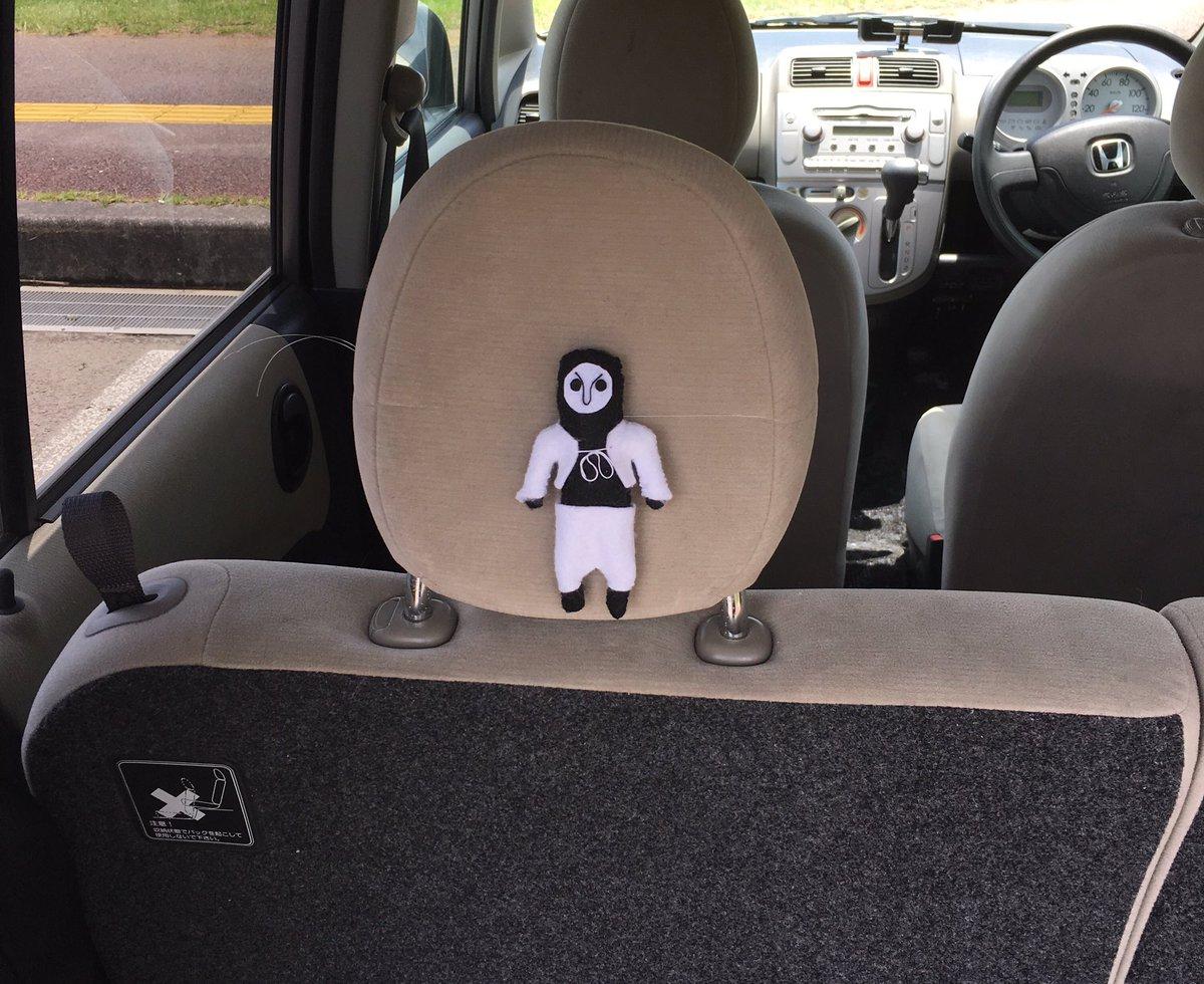 #ふらいんぐうぃっち後部座席で見守る運び屋さん