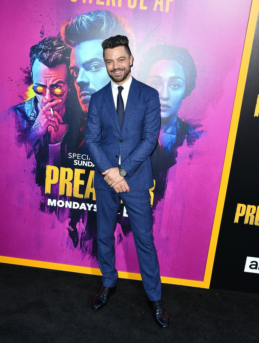 Pictured at the Los Angeles premiere of #Preacher, actor @DominicCoop wears @Burberry tailoring https://t.co/bLwBoqnnzx