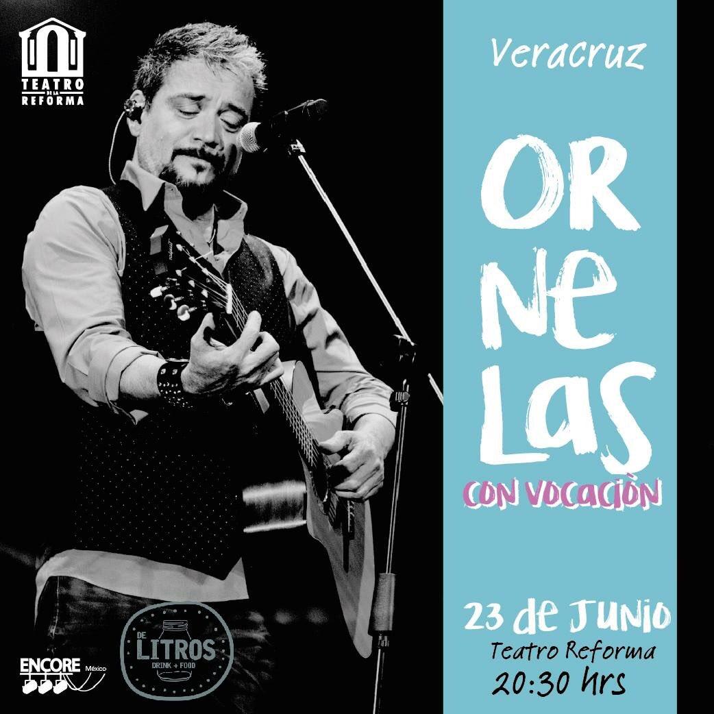 @raulornelasmx regresa a #Veracruz este 23 de junio Teatro de la Reforma . Boletos en taquilla! #NoTeLoPierdas #conciertosmexico https://t.co/CmlNdSfxhf