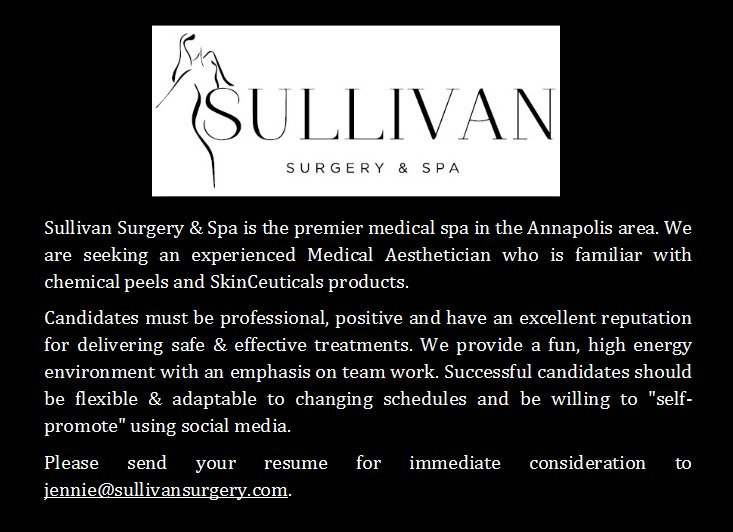 test Twitter Media - Sullivan Surgery & Spa is Hiring! #skinceuticals #hiring #Medicalspa https://t.co/JDagfWHi18