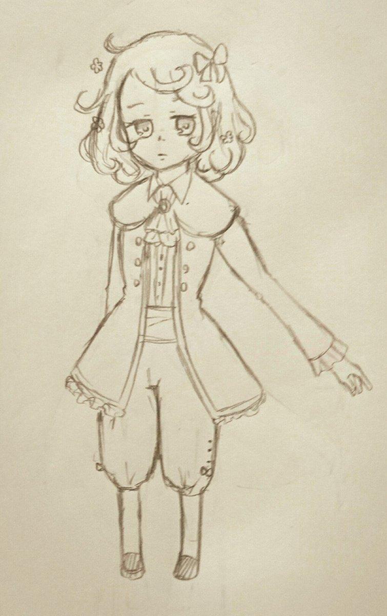 クラシカロイドならムジーク衣装も作るべきと思って描いてみたけど、どうだろう…リストさんもチャイコちゃんもパンツスタイルだ