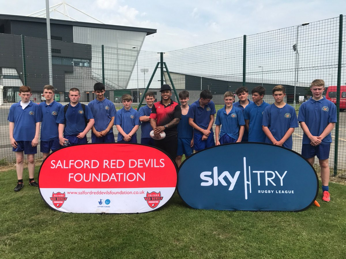 test Twitter Media - Well done to the year 10 rugby league team at the AJ Bell stadium for the Salford Red Devil's tournament. #skytry @SalfordDevils https://t.co/zrlT8mukpX