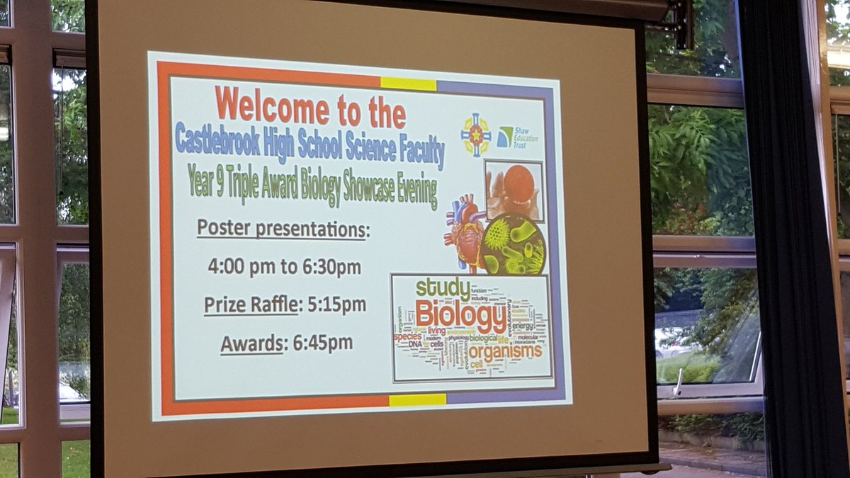 test Twitter Media - Triple award biology showcase evening underway. https://t.co/rigoLO6Yj8