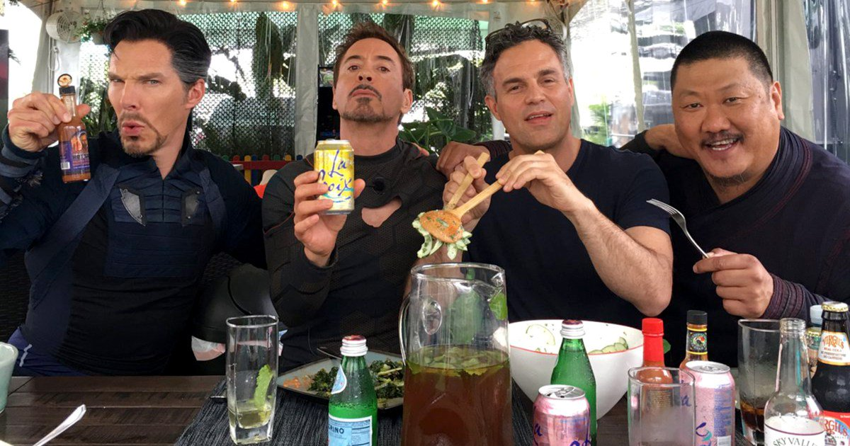 See an amazing photo of @Marvel's science nerds on the set of AvengersInfinityWar: