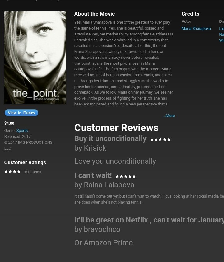 RT @dorota_biskup: The point 1 on iTunes Sports ???????????? Congrats @MariaSharapova this is your merit ❤ https://t.co/InhKDCxCuC