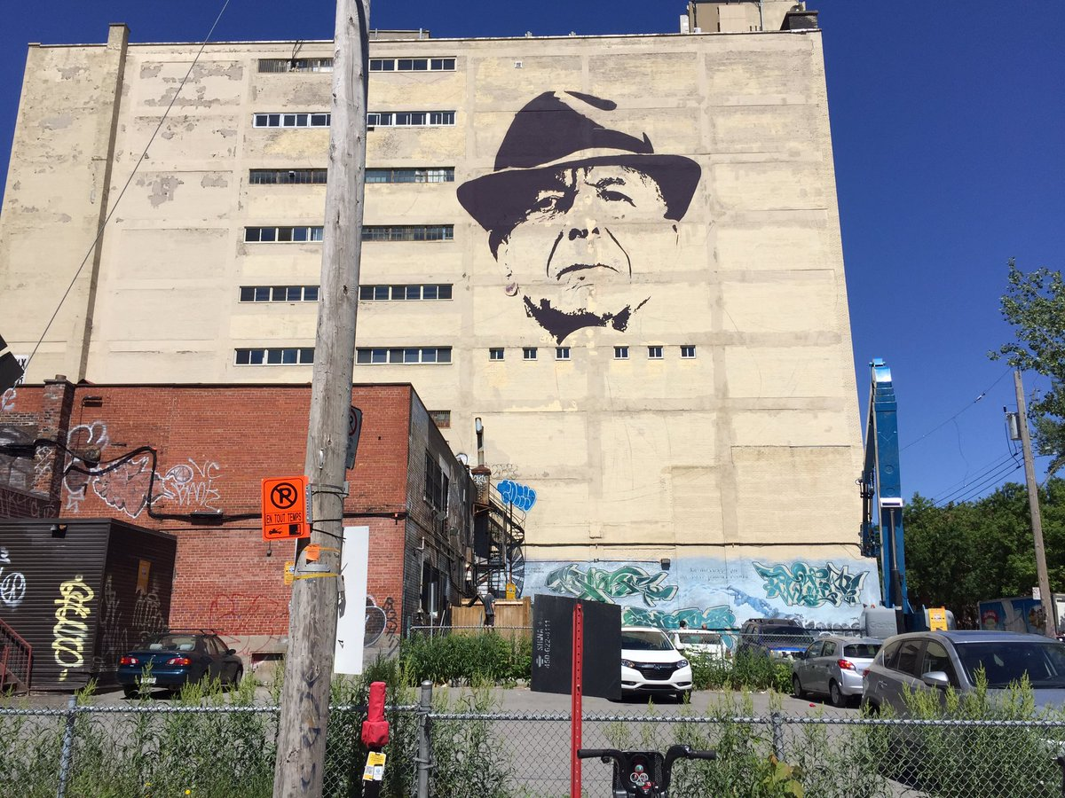 The leonard cohen mural in the plateau is starting to take for Mural leonard cohen