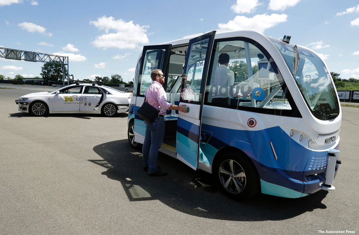 Driverless shuttles to begin operating on the University of Michigan campus this fall.