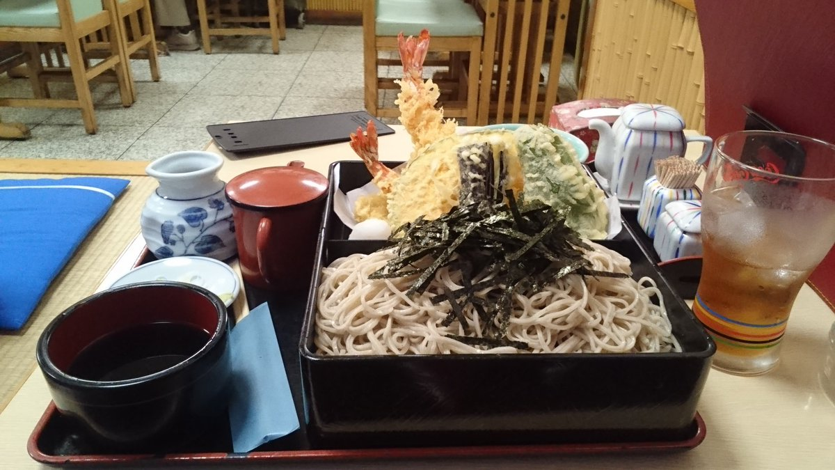 いつもの通り寿徳庵さんでお食事!今日は上天せいろです。#はいふり#寿徳庵横須賀中央店