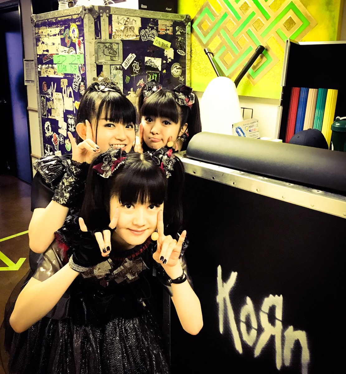 Are you ready @theforum !? #BABYMETAL 's show coming soon! #Korn #StoneSour https;//t.co/8OxNiHd3Zk