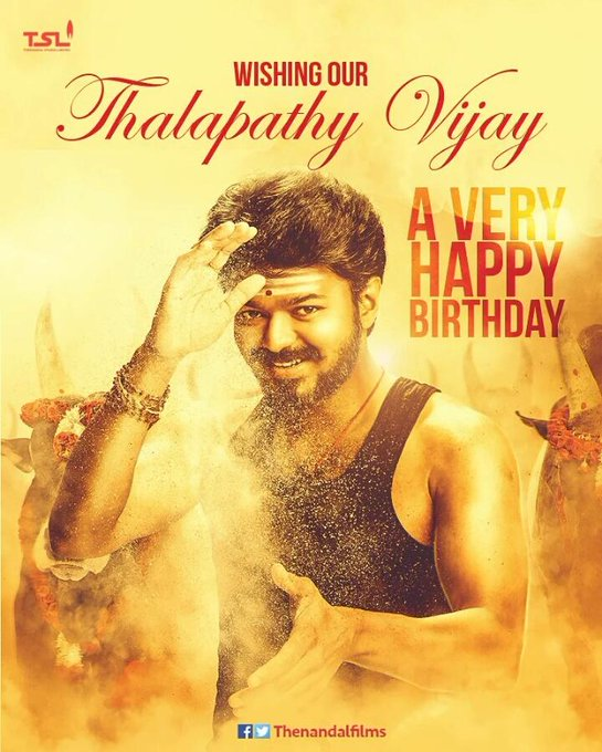 Happy happy birthday to my all time fav.hero, Prince Charming ilayathalapathy Vijay..  U always will be the best!