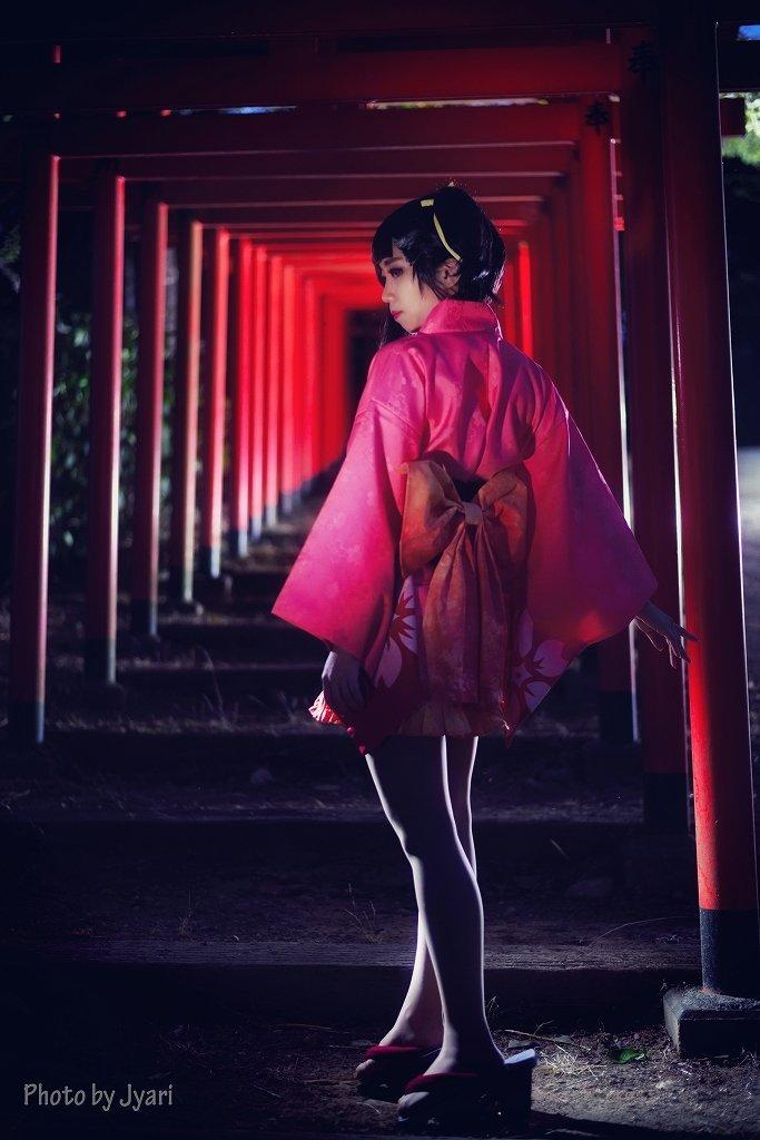甲鉄城のカバネリの無名。ホントに久しぶりの外ロケ。#甲鉄城のカバネリ #無名 #夜ロケ #コスプレ #コスプレ撮影