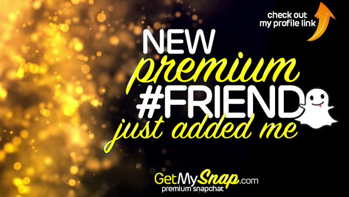 I've just got a new @getmysnap Member - Get access to my #PremiumSnap at https://t.co/4h4Q249S3I https://t