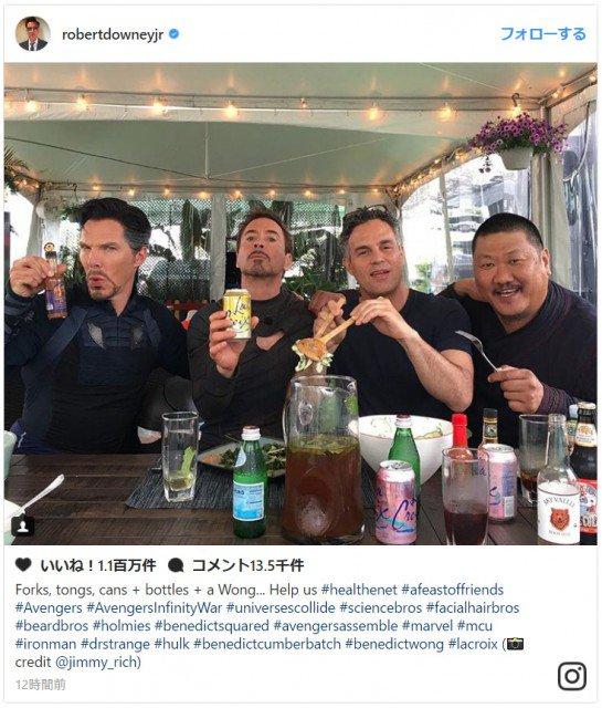 アイアンマン&ドクター・ストレンジのすてきなヒゲ兄弟!ハルクもいる!アベンジャーズ集合写真  #AXNJapan #海外