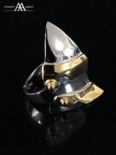 ノイタミナアパレル【甲鉄城のカバネリ】無名アーマーリング(真鍮 Ver.)「無名」が装備している膝当をアレンジした指輪が