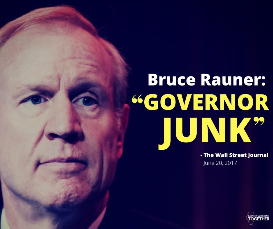test Twitter Media - Even the governor's buddies at The Wall Street Journal know it — Bruce Rauner is #GovernorJunk. #RaunerDoYourJob #BudgetNow https://t.co/SmkEmYDxxg
