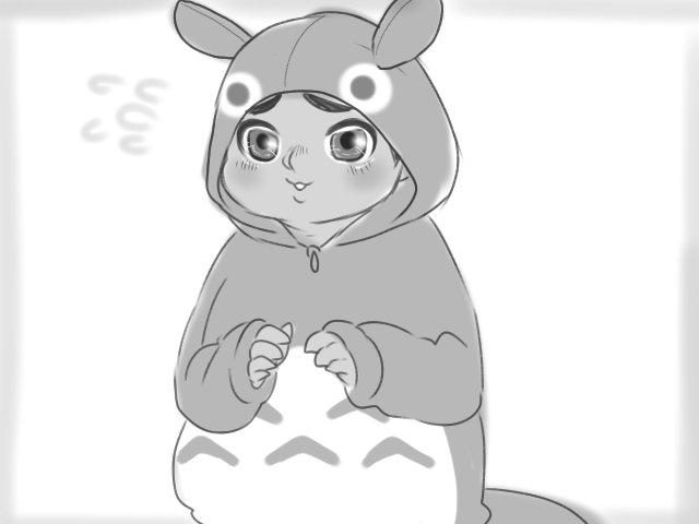トトロがトトロの着ぐるみ