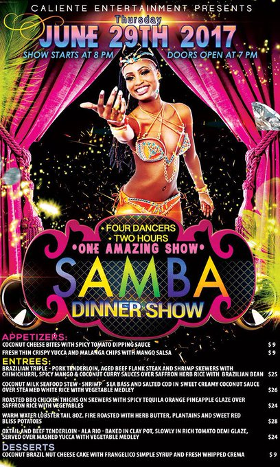1 pic. Thursday June 29th!! Ladies drink free from 8-10. So come have fun and let's get our samba on
