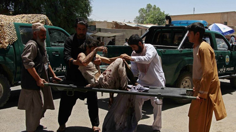 29 people killed and more than 50 wounded as car bomb hits Afghanistan's Lashkar Gah