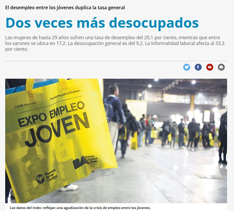 El desempleo entre los jóvenes duplica la tasa general https://t.co/ipv7zZemJz https://t.co/1FilfoW2He