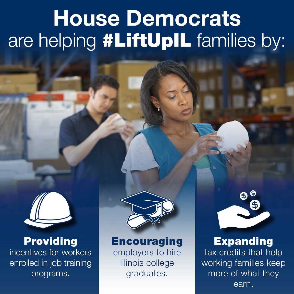 test Twitter Media - House Democrats passed legislation that fosters job creation and provides much-needed economic relief for working families. #LiftUpIL #twill https://t.co/53LQEA6ykD