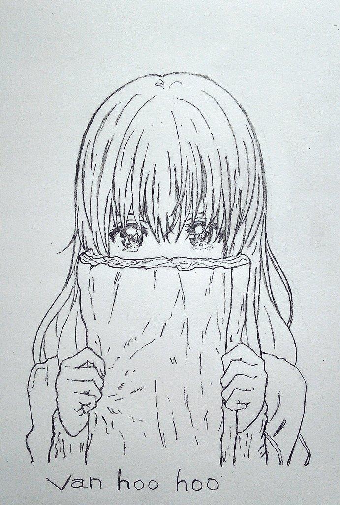 夜の息抜き✨「色入れろ💢」ですよね💦また硝子ちゃん描いてしまいました(>_<)#聲の形  #西宮硝子  #模