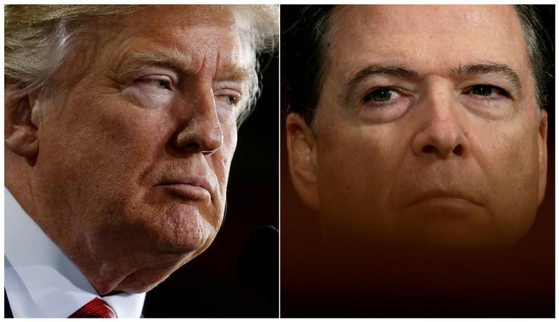 Trump says he did not record conversations with former FBI Director Comey