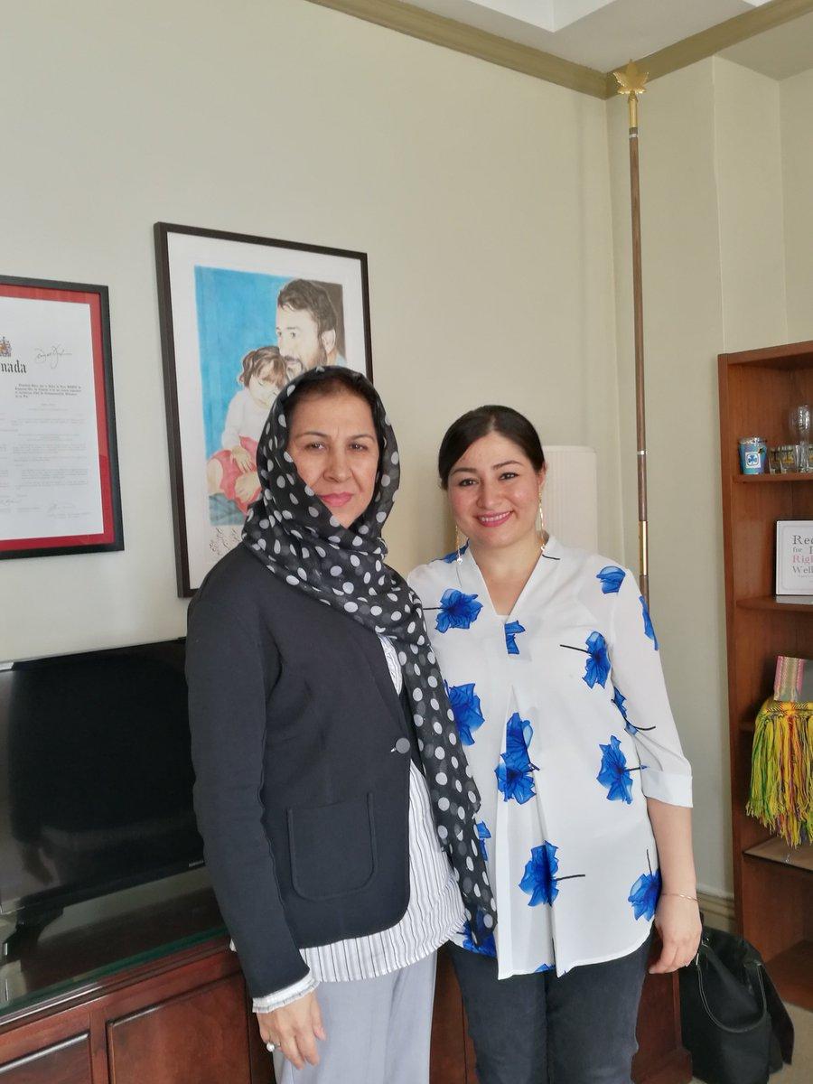 Honorée de parler d'autonomie des femmes avec l'ambassadrice @ShinkaiKarokhil https://t.co/K7WnnyNTGM