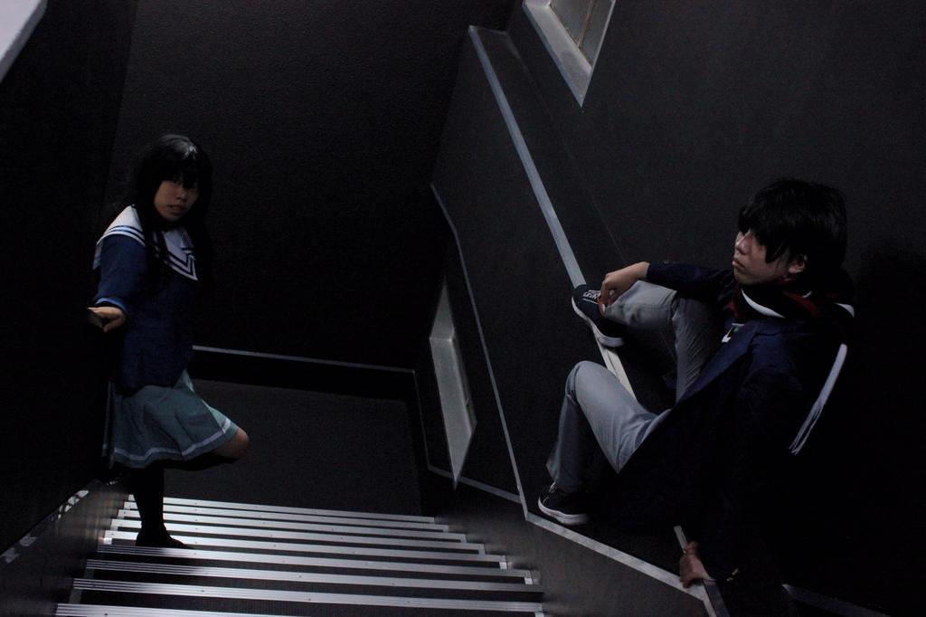 【コスプレ】境界の彼方 名瀬兄妹階段での雰囲気とっても良き名瀬博臣→漣photo→NoRaさん