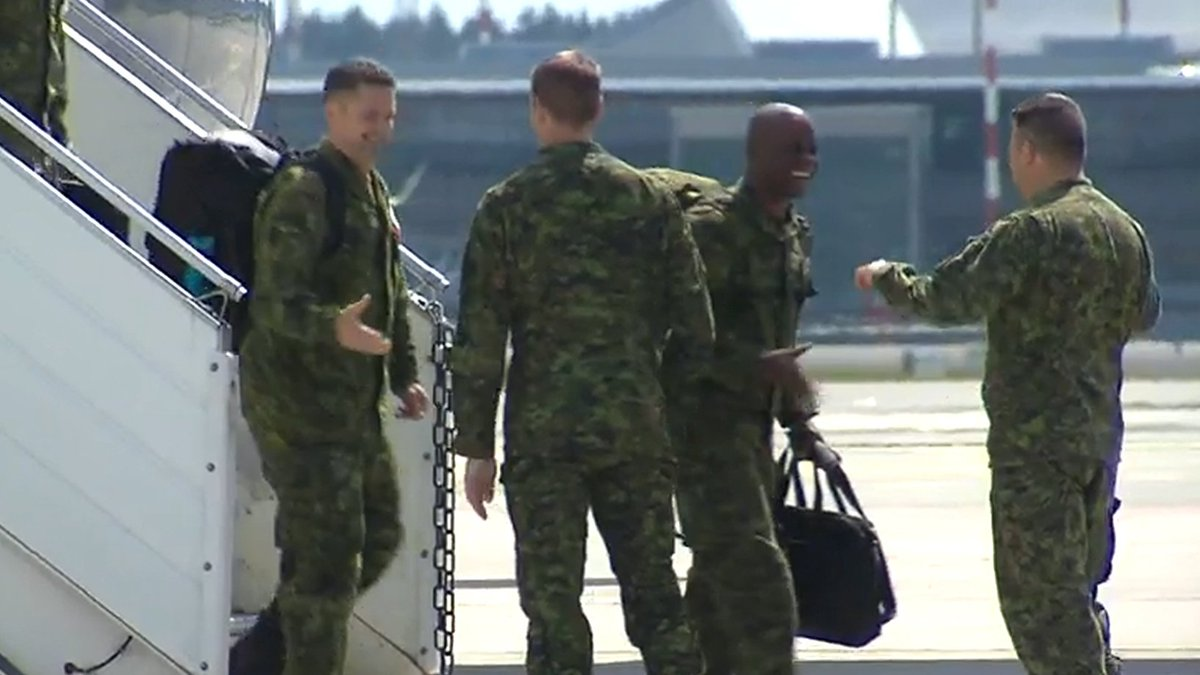 Canadian troops arrive in Latvia to lead NATO mission