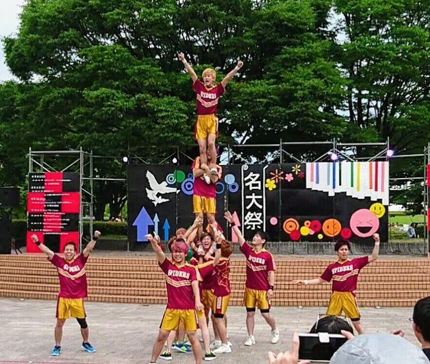 ナゴスパ@名大祭!5期もデビューして人数的にも迫力を増した彼らに益々期待が高まりました😁✨✨#男子チア  #名古屋spi