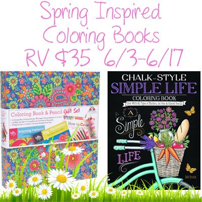 Spring Inspired Coloring Books Giveaway Ends 6/17