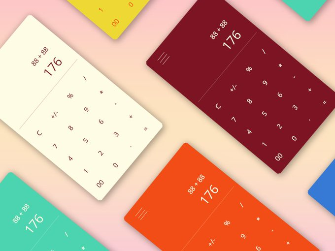 Calculator   Ui kit by Jaydeep Patel freebie