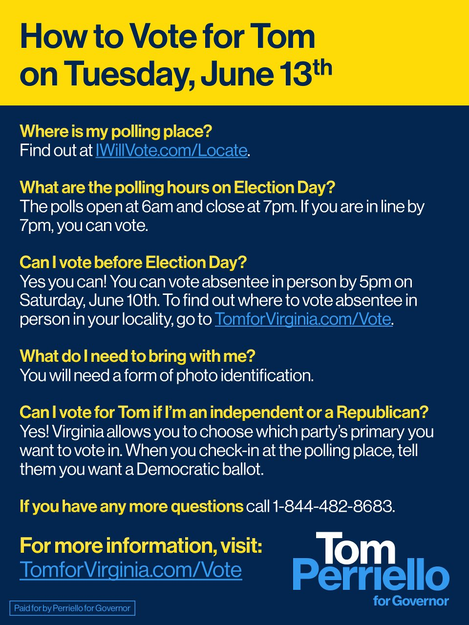 Here's how to vote in the Virginia primary this Tuesday, June 13th: https://t.co/ilxseS0UM7
