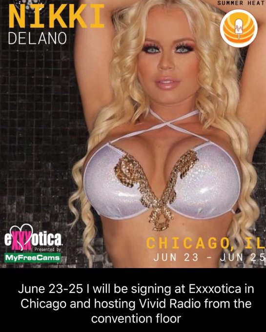 Meet me live at @EXXXOTICA Chicago signing at the @Ce_Talent booth and hosting @VividRadioSXM 415 radio