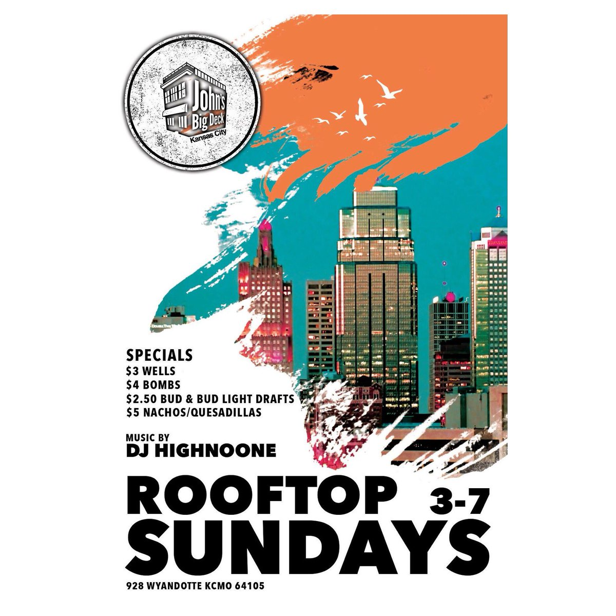 All new Rooftop Sundays with DJ Highnoone!