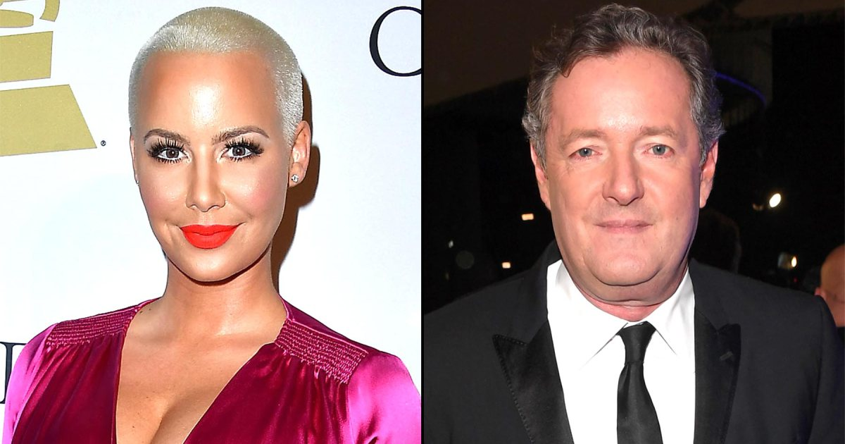 "Amber Rose responds to Piers Morgan's Twitter comments, calling him a ""misogynistic a—hole"":"