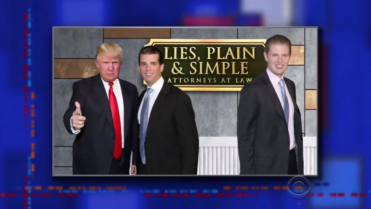 Näst roligast idag. Om Trump hade en advokatbyrå vore detta namnet. Kan också vara titeln på hans memoarer.