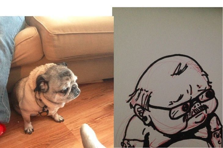 RT @hitRECord: This little pug drawn as a human is EVERYTHING — https://t.co/jSeb8aaGWZ https://t.co/mcvQYg4QsA