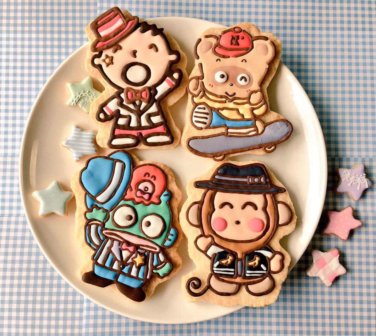 アイシングクッキー新作その⑤です!#キャラクター大賞#サンリオ#たあ坊#ぽんぽこ#ハンギョドン#もんきち#リルリルフェア