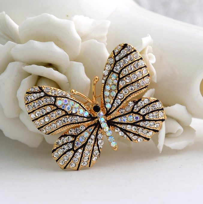 Rhinestone Butterfly BroochRhinestone Butterfly Brooch — My Monster Deal