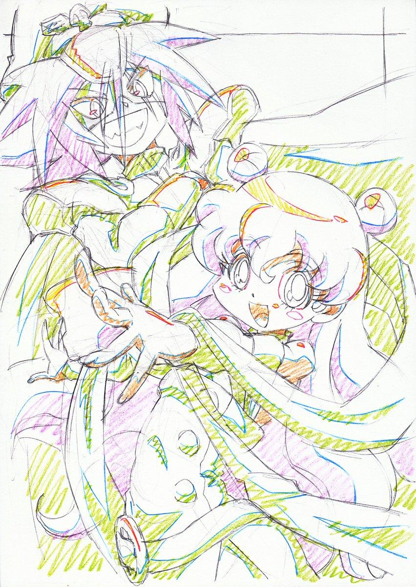 この二人先日お誕生日でしたとかでTLにいっぱいお見かけしたのでこないだ薔薇の日に思いついたネタと合わせて。んで描きあげて