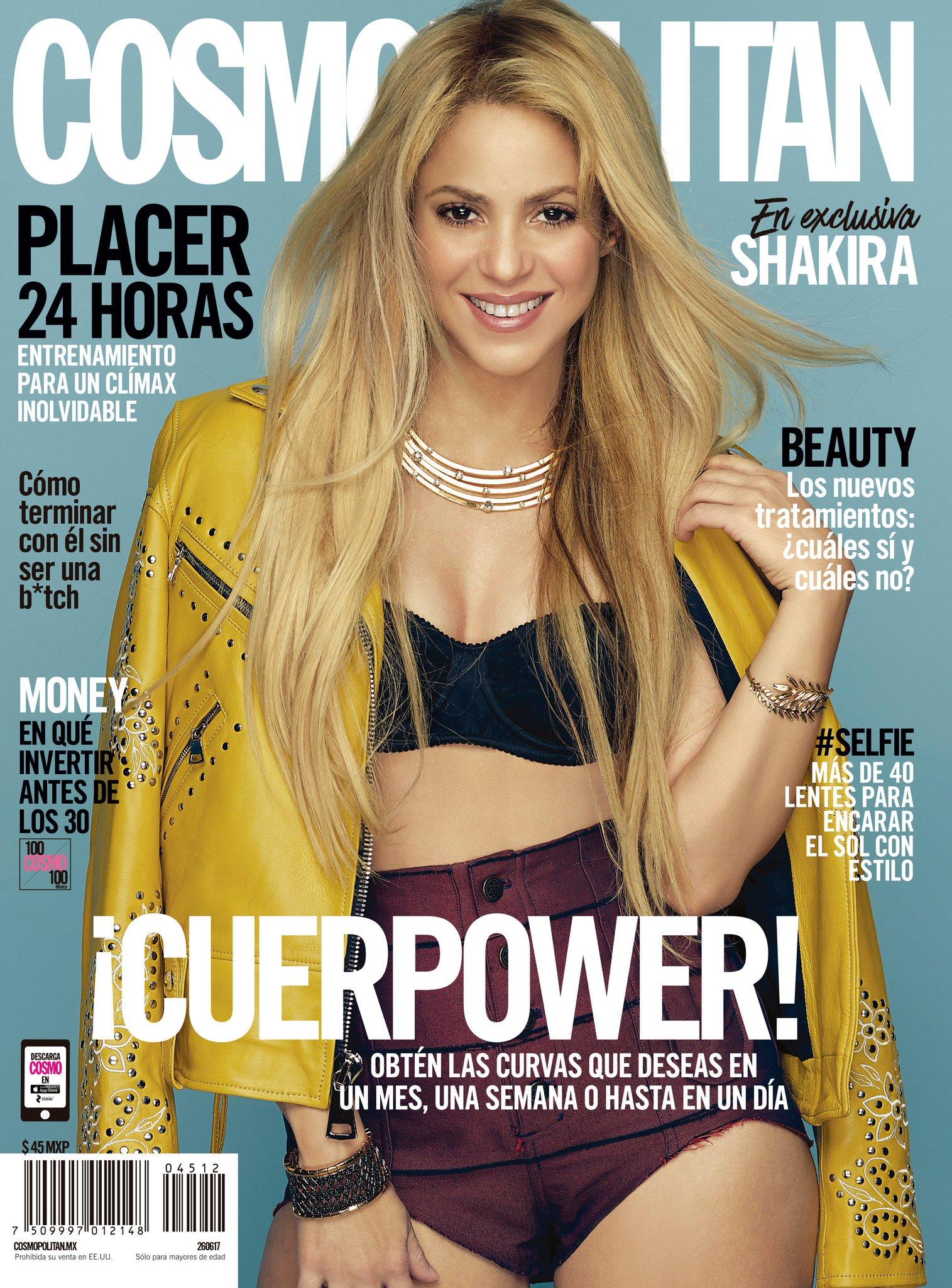 ¡Te revelamos nuestra nueva portada con la guapa @shakira ! ✨ ¡Corre por la tuya a partir de hoy! #ShakiraXCosmo https://t.co/owdhOrUA2r