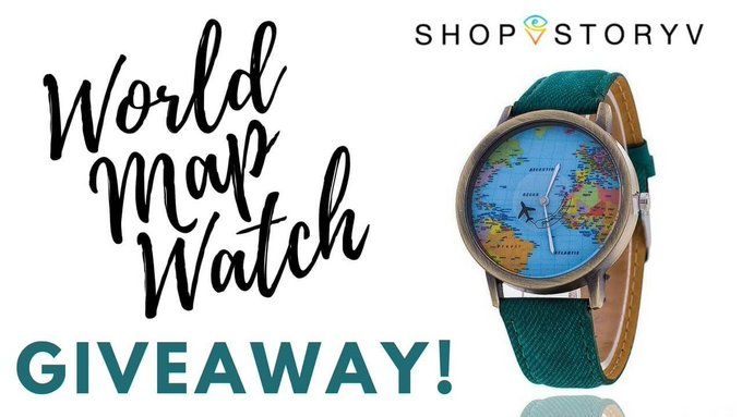 GIVEAWAY: The OCEANA World Map Watch!