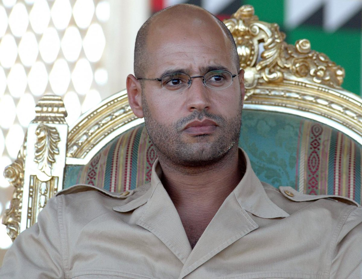 Who is Saif al-Islam Qaddafi, once the heir to his father's regime and now free in Libya?