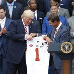 Trump welcomes NCAA champion football team to White House