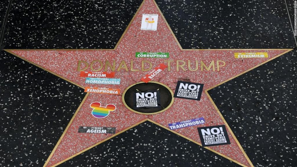 President Trump's Hollywood Walk of Fame star was vandalized — again