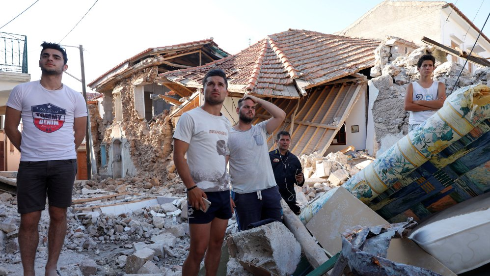 Earthquake kills woman and destroys multiple homes on Greek island of Lesbos