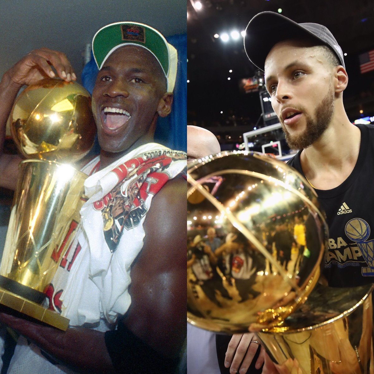 Steph Curry has the same number of NBA championships (2) that Michael Jordan had at age 29.
